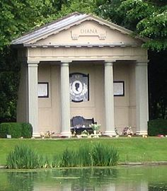 Princess Diana's grave at Althorp House. The Spencer ancestral home can be visited for tours and is now owned by Princess Diana's brother Charles. Her grave is on an island in the middle of a pond on the estate .