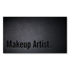 Professional Black Out Makeup Artist Business Card. This is a fully customizable business card and available on several paper types for your needs. You can upload your own image or use the image as is. Just click this template to get started!