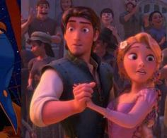 Rapunzel and Flynn Rider in the Kingdom Dance Best Disney Movies, Disney Films, Walt Disney, Disney And Dreamworks, Disney Love, Disney Magic, Disney Art, Disney Rapunzel, Tangled Rapunzel