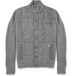 FaconnableQuilted-Front Wool Lightweight Jacket|MR PORTER