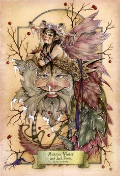 Mistress Winter and Jack Frost  by: Linda Ravenscroft