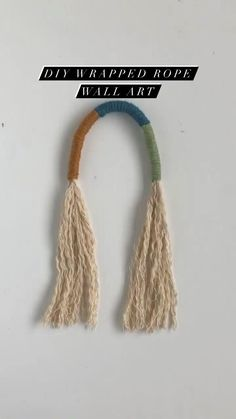 Rope Crafts, Diy Crafts Hacks, Yarn Crafts, Embroidery Floss Crafts, Hand Embroidery Art, Texas Crafts, Rope Bracelets, Yarn Wall Art, Rope Art