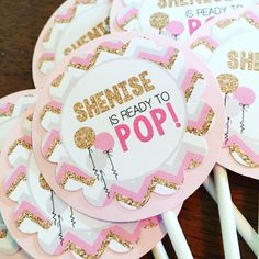 "15 Piece Ready to Pop Cupcake Topper w/ Stick. Use this cute decorations in cupcakes or in centerpieces for that extra touch to your party! Sizing- Stick is approximately 4"" tall and the tag is approximately 2.25"" in diameter."
