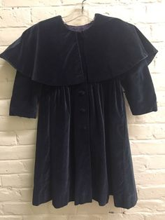 Vtg Simi 5 Deep Navy Blue Velvet & Braid Capelet Coat victorian style    eBay