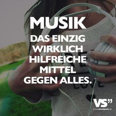 Visual Statements® Music is the only really helpful remedy against everything. Sayings / quotes / quotes / music / profound / funny / beautiful / thinking Source by melissaalikan Music Memes, Music Humor, Music Quotes, First Love Quotes, Best Quotes, Quotes Quotes, Awesome Quotes, Sound Of Music, Music Is Life