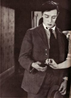 Buster Keaton. I love the color of this photo.