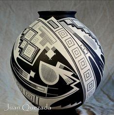 JUAN-QUEZADA'S-MASTER-PIECE-BLACK-CLAY-MATA-ORTIZ-OLLA