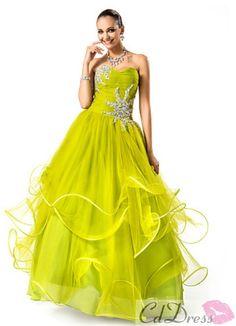Pretty Ball Gown Sweetheart Floor-length Tulle Evening Dress from CDdress.com