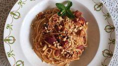 Aziatische spaghetti met sardientjes