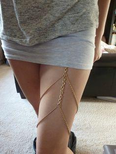 AMY!!  Crafty Lady Abby: FASHION: DIY Thigh Chain Garters