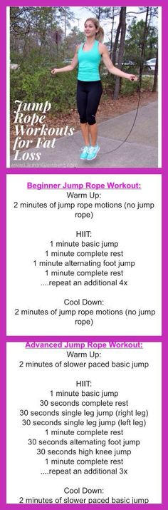 2 JUMP ROPE EXERCISES FOR FAT LOSS - BEGINNER & ADVANCED VERSIONS