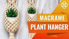 DIY Macrame Pods | Macrame Pot Hanger | Macrame Plant Hanger Tutorial Crochet Plant Hanger, Macrame Plant Hanger Patterns, Macrame Plant Hangers, Macrame Patterns, Pot Hanger, Wall Plant Hanger, Macrame Supplies, Macrame Projects, Macrame Art
