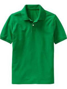 School uniform short sleeve knit peter pan polo shirt from for Old navy school shirts
