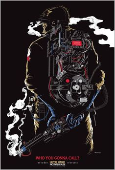 Ghostbusters poster by Mark Lone #comics #art