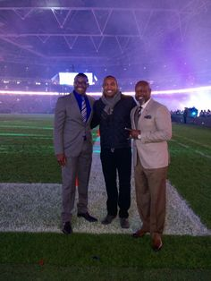 Michael Irvin, Darren Woodson, & Emmett Smith in London for the game #CowboysLondon #DallasCowboys