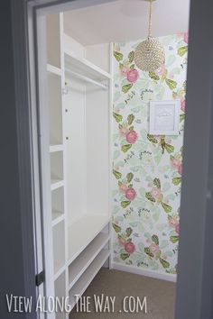 DIY closet shelving tutorial!