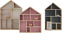 estantes pared formas casitas juguete