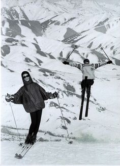Skiing—Life at the Top Photographed by Peter Beard, Vogue, November 1, 1964