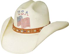 dffe151dcc Bullhide Only In America Straw Hat at Cowgirl Blondie's Dumb Blonde Boutique