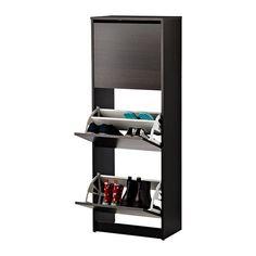 BISSA Skoskap med 3 rom IKEA Hjelper deg med å holde orden på skoene og frigjør gulvplass.