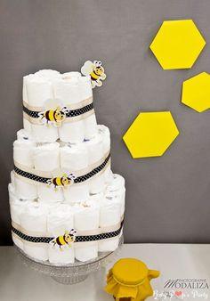 baby shower abeille bee bizz jaune fille garçon by Baby pop's party photo: www.modaliza.fr