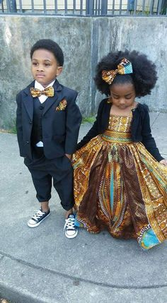African Wear, African Attire, African Fashion, Kids Fashion, Babies Fashion, Ankara Fashion, African Style, Fashion Clothes, Outfits Niños