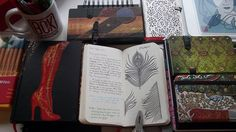A special peek inside @Sally Jane Hurst' creative journals. Click through to see more and read about her processes and inspirations.