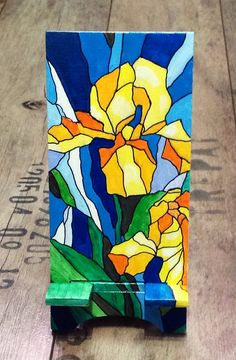 Smart Phone Stand in the style of stained glass with от UkrHeart