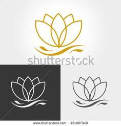 Lotus Flower Logo Stock Vector Illustration 351907349 : Shutterstock