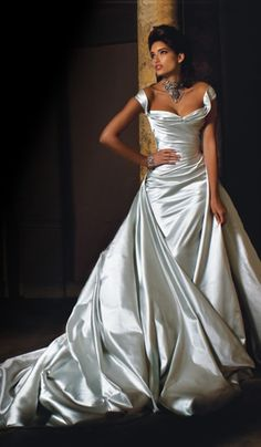 Angelina Colarusso - Gabriella. This is so simple and elegant... kind of reminds me of Dita Von Tease's wedding dress but not purple!