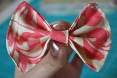 how to make a simple bow with fabric