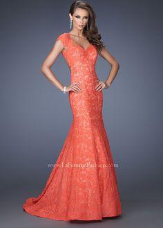 La Femme 20117 Lace Mermaid Gown