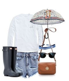 """vineyard/hunter/nicolelee"" by brooksied1775 on Polyvore featuring Vineyard Vines, Ray-Ban and Hunter"