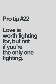 know what to fight for