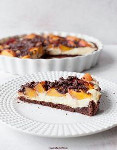 Tarta sernikowa z brzoskwiniami Polish Desserts, Cookie Desserts, Fall Dessert Recipes, Dessert Drinks, My Favorite Food, Favorite Recipes, Pastel, Cake Cookies, Sweet Recipes