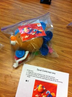 Hodges Herald: Potato Head Combinations...this is great fro reviewing combinations and I like the idea of using it in a center.