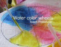 color wheel craft color preschool theme pinterest color wheels