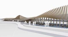 #landscape #architecture #timber #parametric #bim #archicad