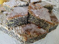 Makový koláčik s citrónovou polevou