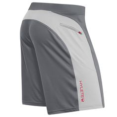 HYLETE PROJECT - helix II flex-knit integrated pocket short - cool gray/silver