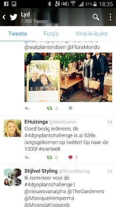 After a small week we have 639 tweets #4dgnplantchallenge