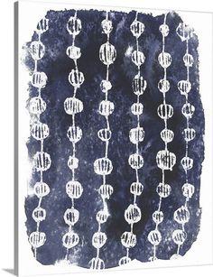 June Vess Solid-Faced Canvas Print Wall Art Print entitled Indigo Batik Vignette I Wall Art Prints, Framed Prints, Canvas Prints, Big Canvas, Outdoor School, Outdoor Lounge Furniture, Plus Size Designers, Furniture For Small Spaces, Blue Tones
