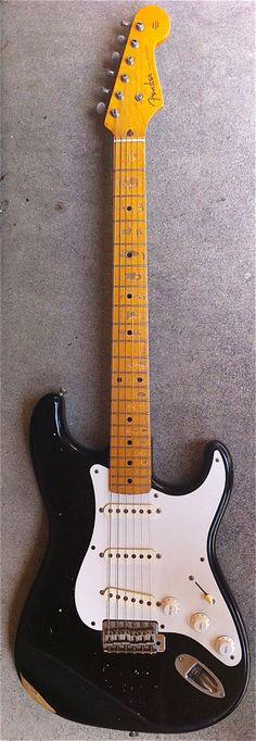 1990 Fender Stratocaster 50's Reissue Black Guitar $500.00