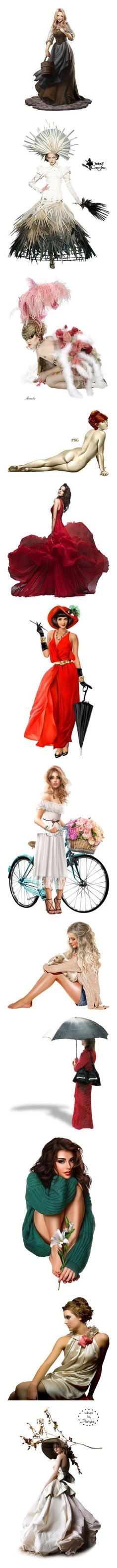 """Women"" by nerd-muffin ❤ liked on Polyvore featuring dolls, fantasy tube, girls, surreal, surrealism girl, red, dresses, women, models and people"
