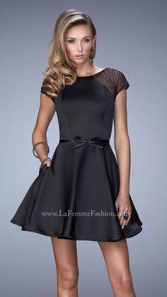 3c3e20dce2b US 149.99 Wholesale 2016 A-line Black Satin Short Prom Dress  Homecoming  Dress . Dressy DressesShort ...