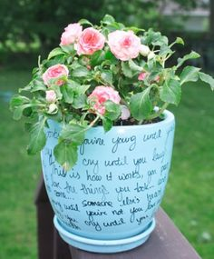 "Song Flower Pot. I so want to do this with the song, ""You are my sunshine!"""