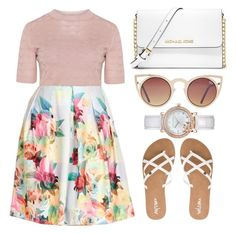 """Spring Date"" by the-messiah ❤ liked on Polyvore featuring City Chic, Volcom, MICHAEL Michael Kors, Quay and Laura Ashley"