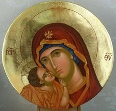 Tenderness Icon of the Theotokos Religious Images, Religious Icons, Religious Art, Madonna, Greek Icons, Icon 5, Christian Artwork, Russian Icons, Blessed Mother Mary