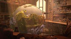 Dans l'atelier des saisons, l'Automne prend place près de la maquette…