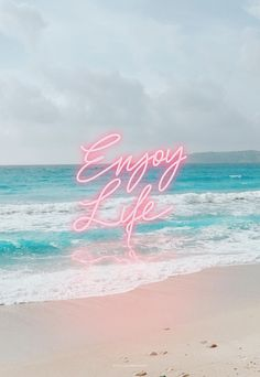 Enjoy Life Neon / by Cocorrina / iPhone wallpaper